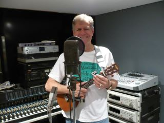 Nick in recording studio